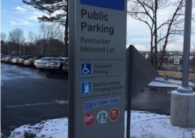 Monument Parking Lot Sign