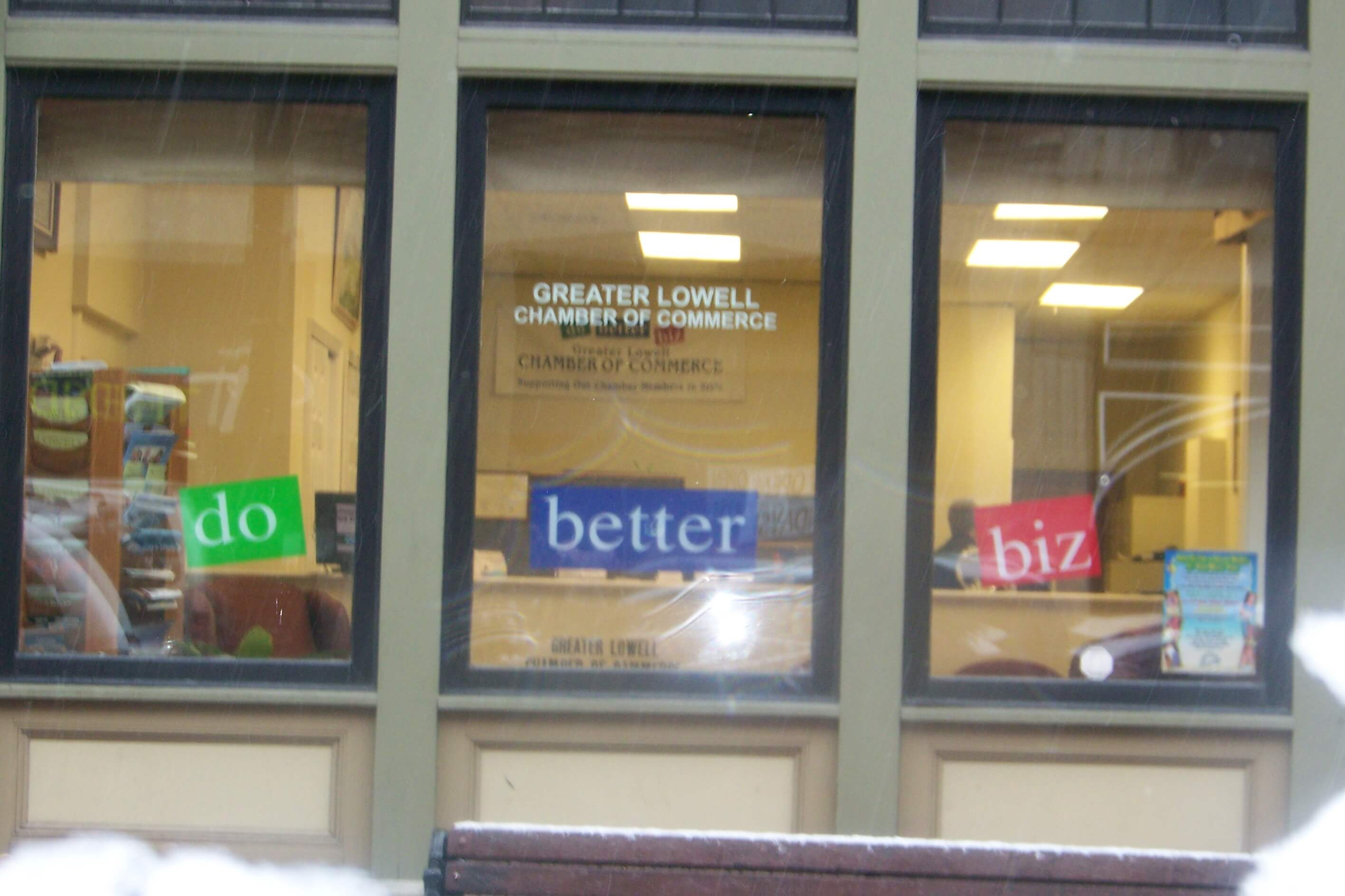 Lowell Chamber Window Lettering Lowell MA
