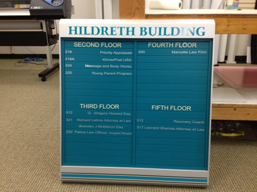 Custom Directory For Office Building