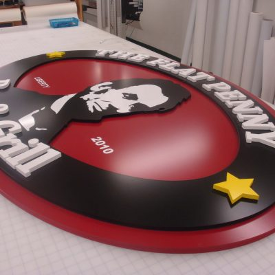 Dimensional PVC Wall Sign
