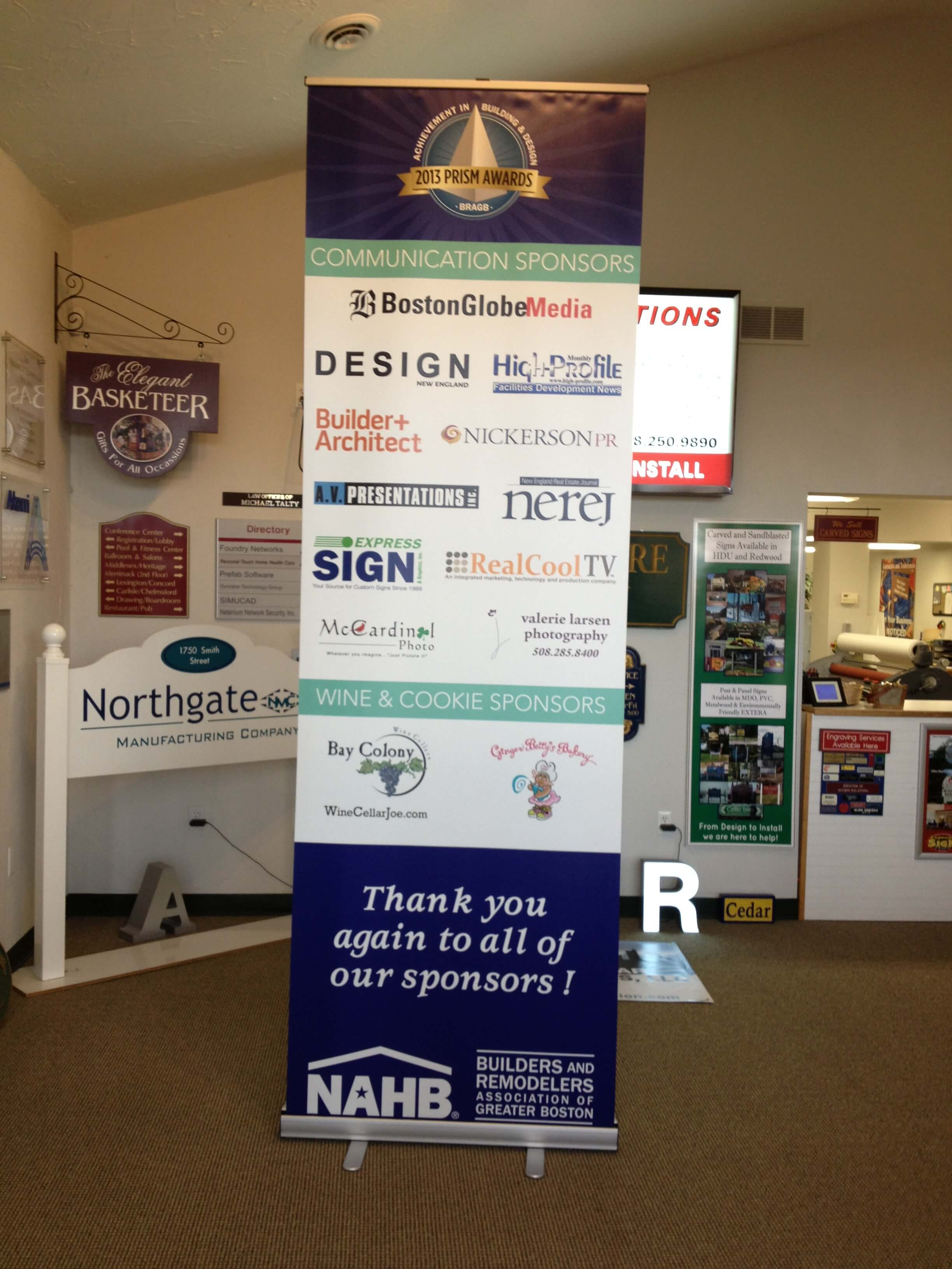 Extra Large Retractable Banner Printed on Smooth No-Curl Banner