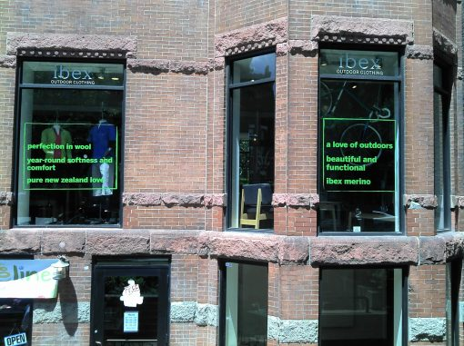 Green Window Vinyl Graphics Boston MA