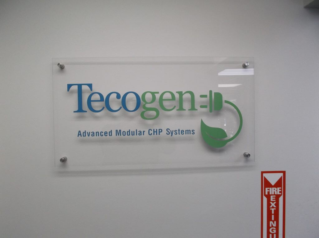 Acrylic Logo Sign with Standoffs