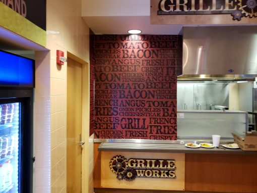Grill Works Vinyl Graphic Mural on Dibond