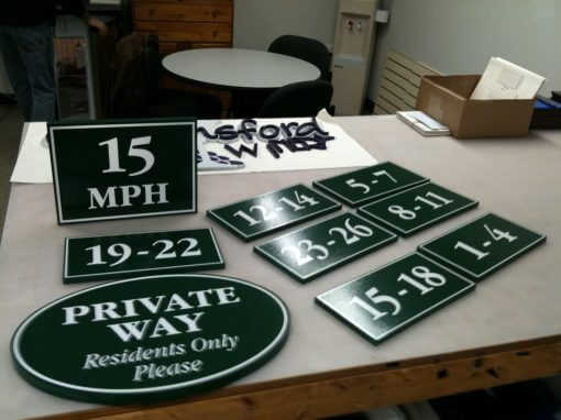 Custom Shaped PVC Signs