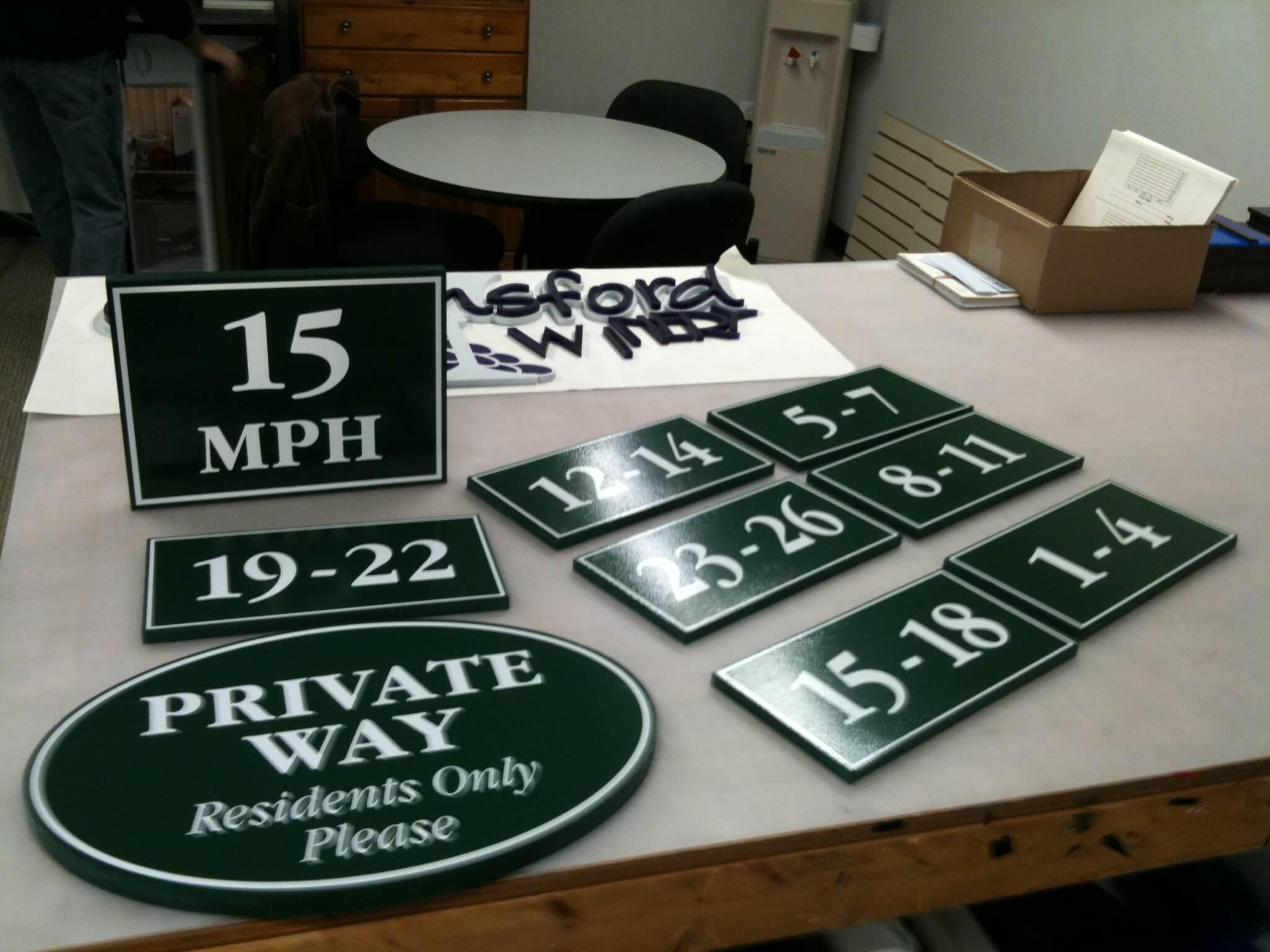 Custom Shaped PVC Signs