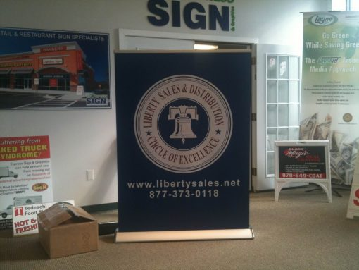 "48"" Wide Retractable Banner on Smooth No Curl Banner"