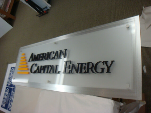 Acrylic Dimensional sign with Frosted Vinyl