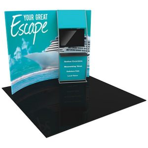 Formulate Master 10' Fabric Tension Display with Monitor Shelf