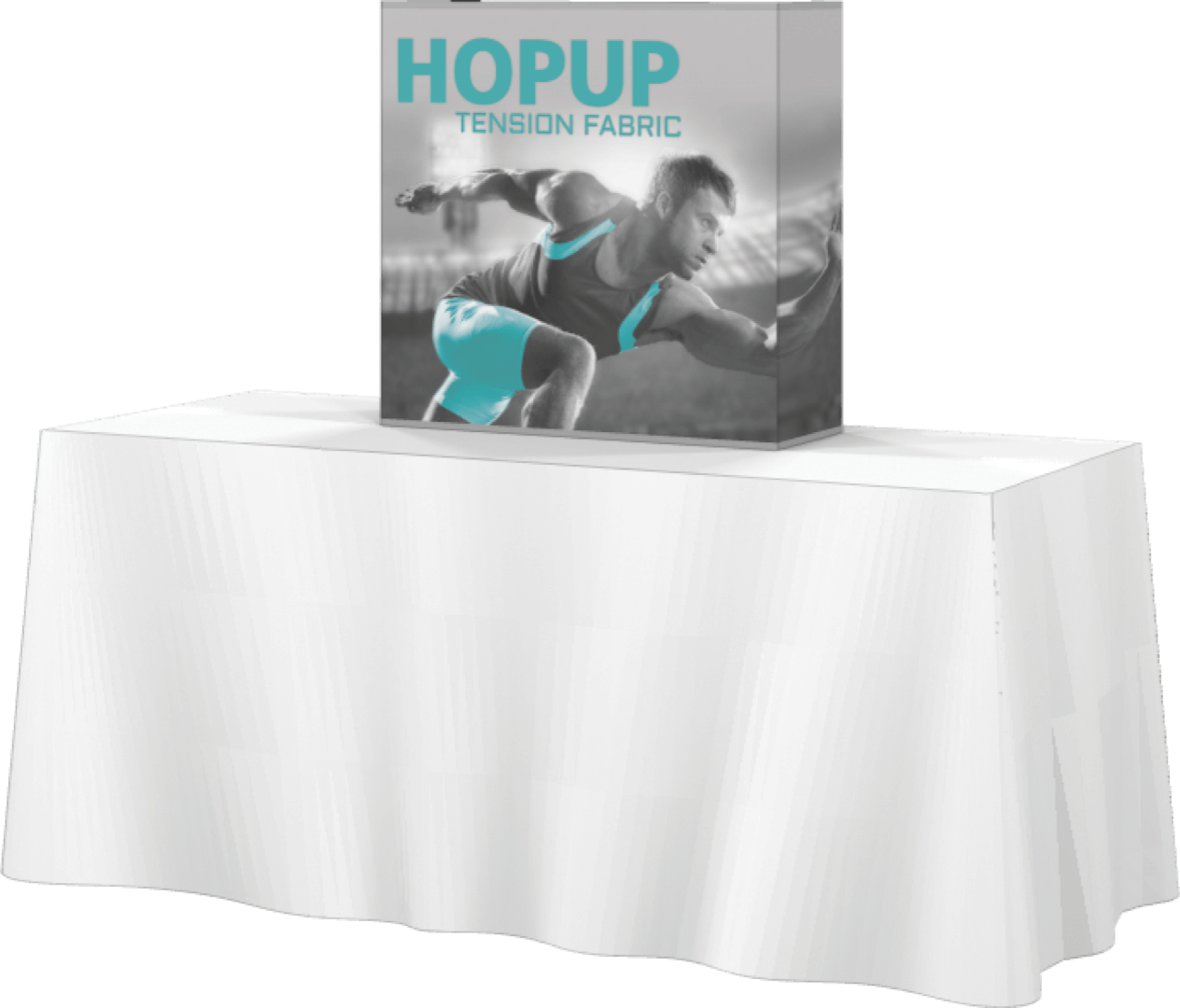 Hop Up Tension Table Top Display