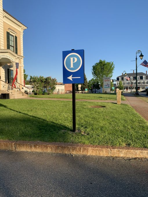 Wayfinding Parking Lot Signage