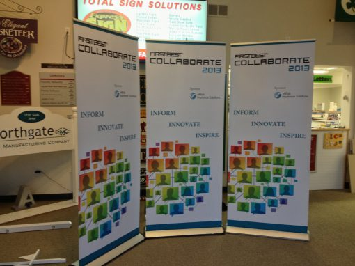Roll Up Trade Show Signs