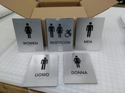 Custom ADA Compliant Restroom Signs