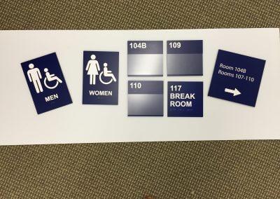 ADA Bathroom Signs, Room ID Signs, Directional
