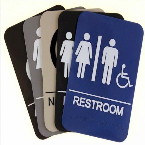 Bathroom ADA Compliant Signs