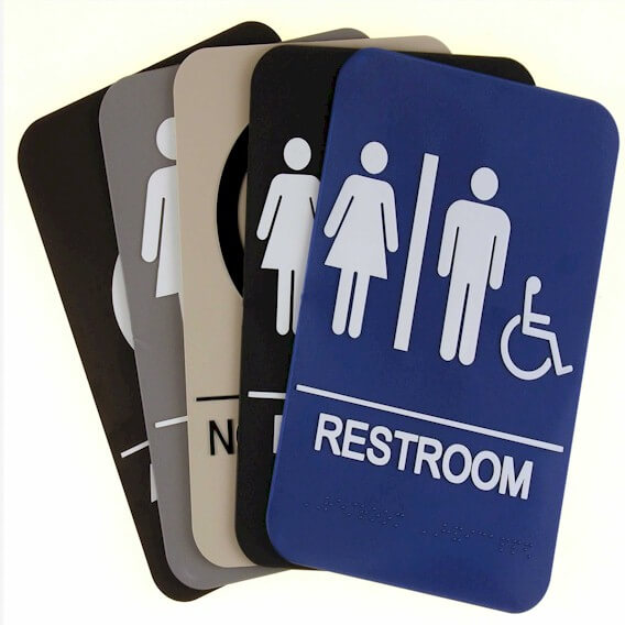 Bathroom ADA Compliant Signs
