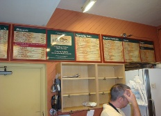 Restaurant Menus and Signs