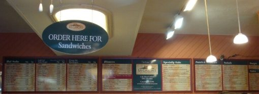 Restaurant Menu Signs