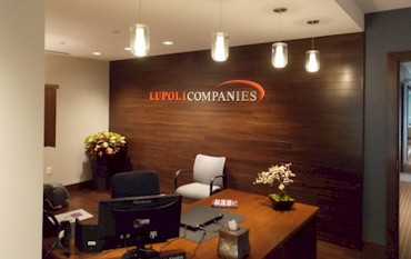 Custom Acrylic Logo Sign Reception Wall
