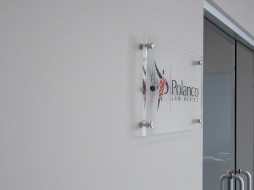 Acrylic Sign with Standoffs