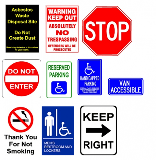 Custom Parking Lot Signs