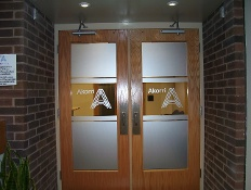 Frosted Vinyl Window Lettering