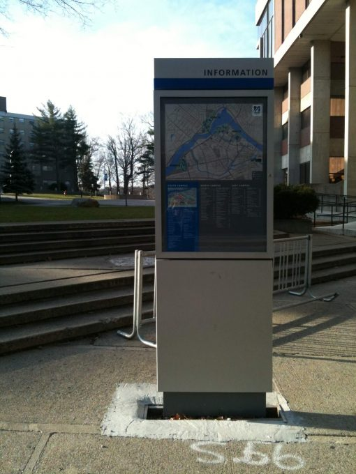 UMass Lowell Campus Map Full Color Graphics