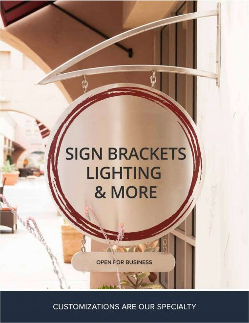 Sign Bracket Catalog Cover