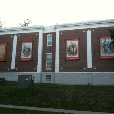 Custom outdoor banner displays