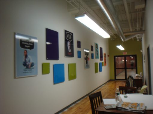 Wall display with full color on acrylci