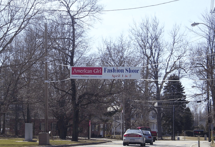 Over the Street Banner