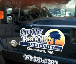 StonyBrook Landscaping Truck Lettering Chelmsford, MA