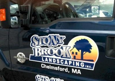 StonyBrook Landscaping Truck Lettering