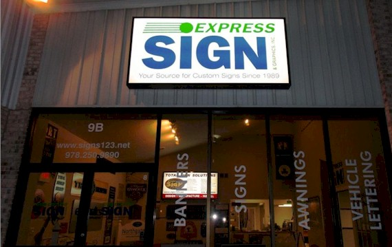 Express Sign & Graphics Chelmsford MA Storefront