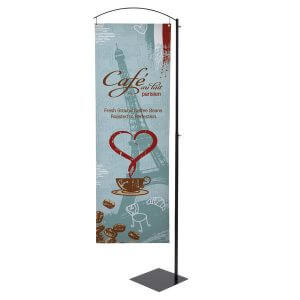 Cantilever Banner Display