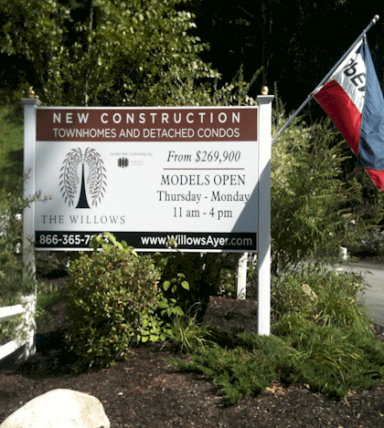 PVC Post and Panel Sign with Full Color Graphics