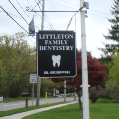 Littleton Family Dentistry Wood Carved Sign