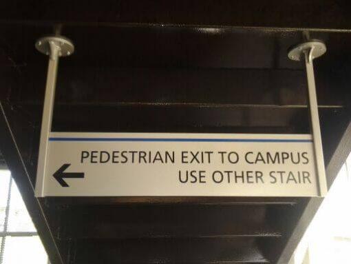 Overhead Custom Aluminum Parking Lot Sign