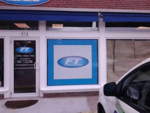 Door Lettering and Full Color Perforated Window Graphics