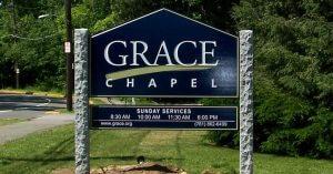 Custom 2 Sided HDU Church Sign, Lexington, MA