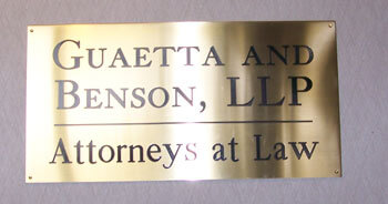 Brass Engraved Office Signs