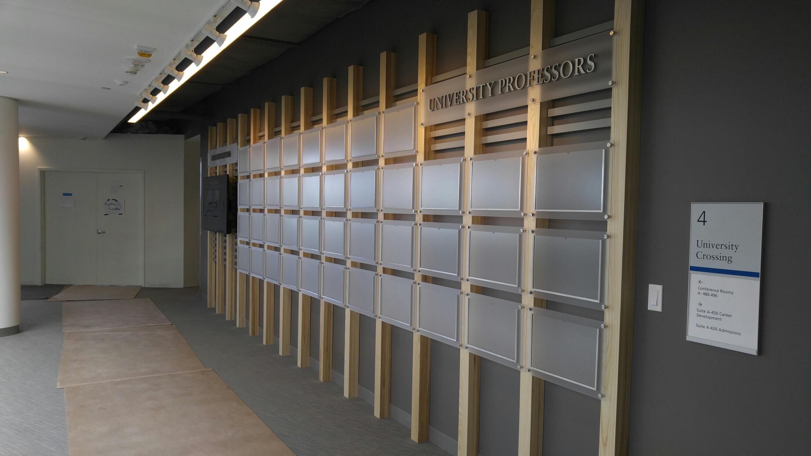Photo Wall with Dimensinoal Letters