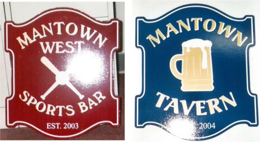 House Signs - Man Town and Tavern Signs