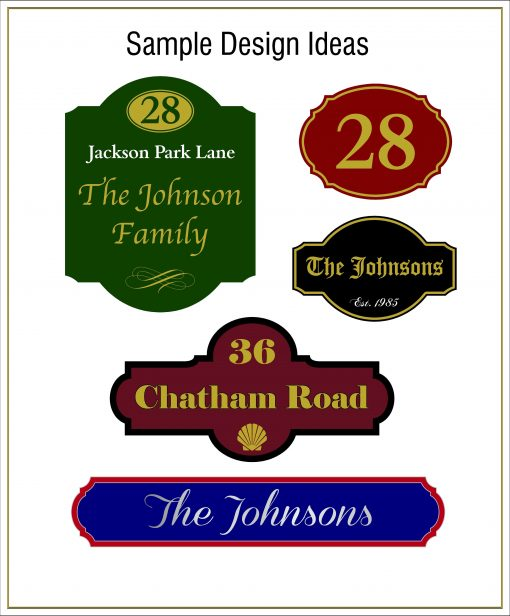Sample House and Farm Signs