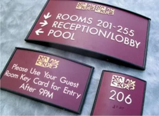Hotel Directory Directional Signs