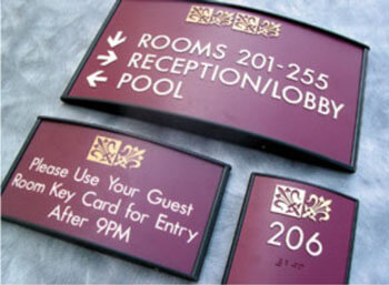 Hotel Signs and Room ID