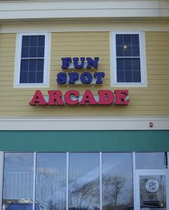 LED channel letter arcade sign