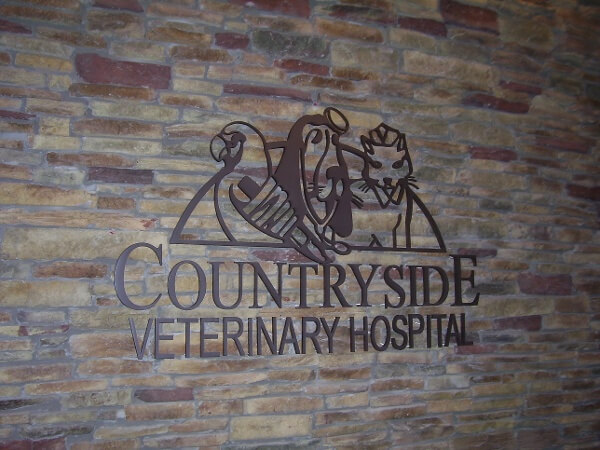 Interior Metal Letter Signs - Countryside Veterinary Hospital