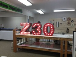 Channel Letters with Exposed Bulbs