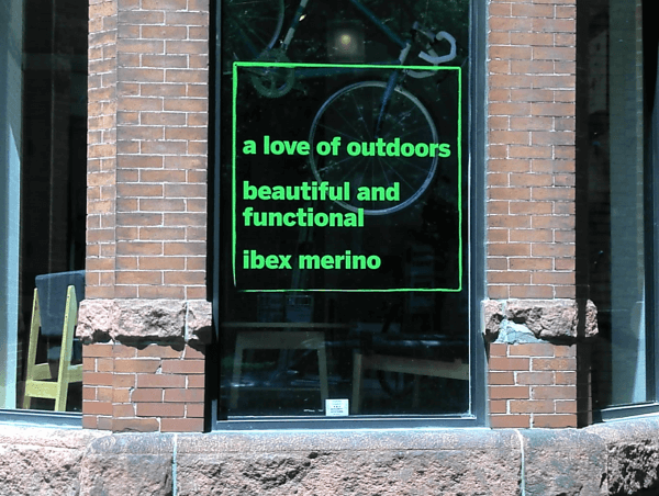 Window Lettering, Newbury St. Boston MA